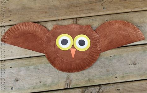 paper plate owl craft make a owl from a paper plate 674 | paper plate owl 1