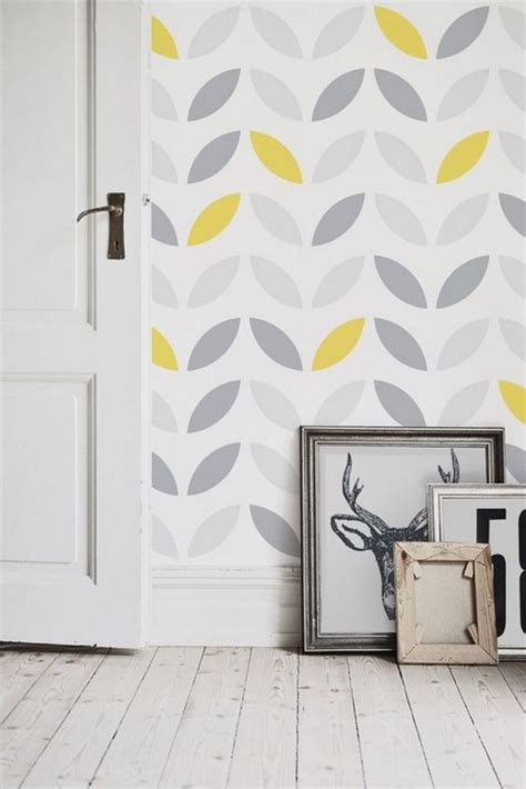 neat interior designs  grey wallpaper