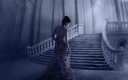 Fantasy Woman Wallpapers Background Ground Mysterious Woods