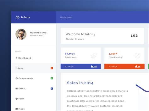 infinity web application kit home page infinity web