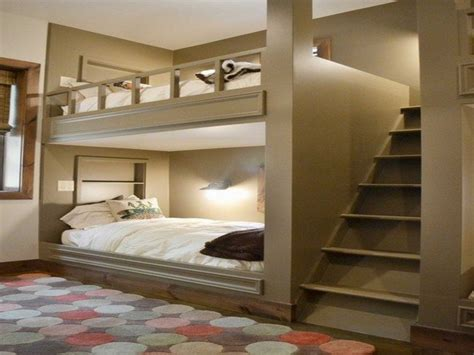 Kitchen Cottage Ideas - a bedroom with adult bunk bed decor around the world