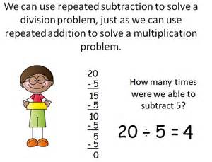a division problem division as repeated subtraction power point