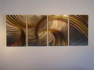 abstract metal wall art contemporary modern decor With bronze wall art