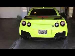 2014 Nissan GTR Lime Green Wrap Bryan Casella
