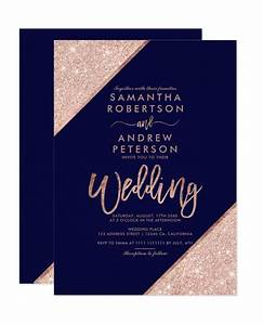 Blank Christmas Invitation Background Rose Gold Glitter Typography Navy Blue Printable Wedding