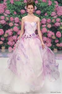 watercolor wedding dress atelier aimee 39 s purple watercolor print wedding dress watercolor print atelier and watercolors
