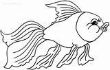 Goldfish Coloring Drawing Printable Bowl Peixe Desenho Cool2bkids Getdrawings Escolha Pasta sketch template