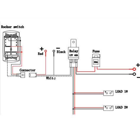 8 Terminal Rocker Switch Wiring Diagram 3 Way by 12v 40a Led Fog Light Wiring Harness Laser Rocker Switch