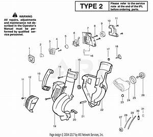 Poulan Bv200 Gas Blower Type 2 Parts Diagram For Handle  Chassis  U0026 Blower Assembly Type 2