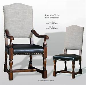 dining chairs old world parsons linen leather With leather parsons dining room chairs