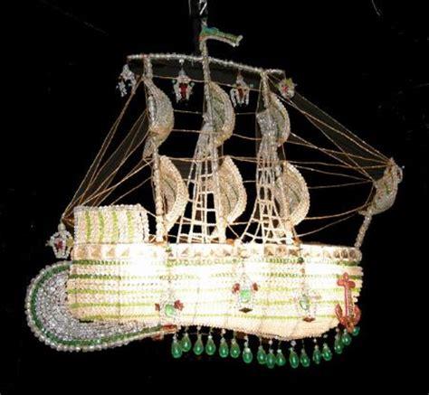 italian bead sailing ship chandelier