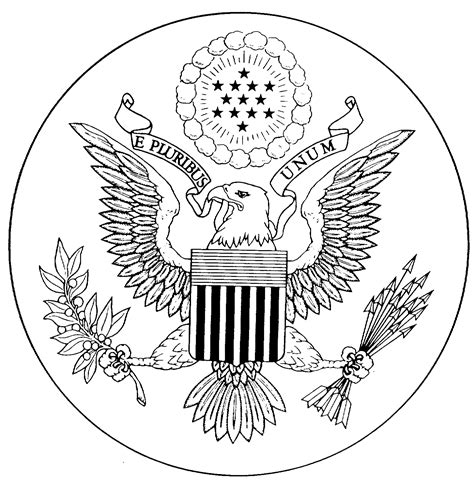great seal   united states coloring page coloring home