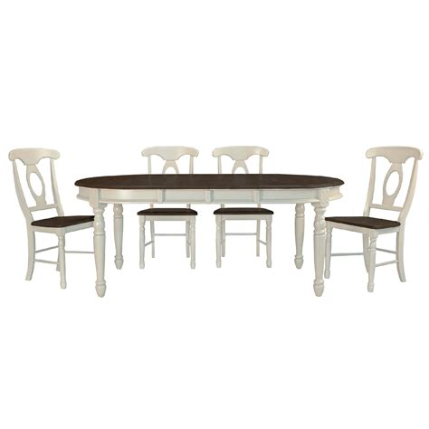 Set Of Table Ls by Isles 5 Dining Set Oval Table With 4