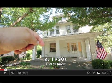 american foursquare style historic brick home  sale