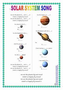 Song for kids: Planets / Solar System song worksheet ...
