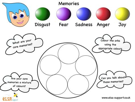 Matchup Inside Out Emotions Worksheet