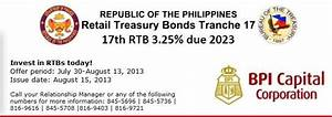 BPI Capital is Selling Retail Treasury Bonds (RTB)