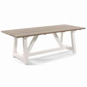 Table En Teck Massif : table en teck massif et alu 220 cm cassano la galerie du teck ~ Teatrodelosmanantiales.com Idées de Décoration