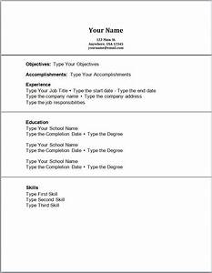 Doc High School Student Resume Format With No