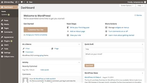 Add And Remove Widgets In Wordpress Dashboard