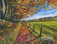 Autumn Acrylic Landscape Paintings