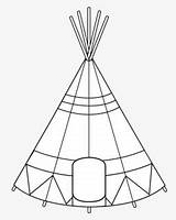 Coloring Native Teepee Headdress Head Teepees Clipartkey 59kb sketch template