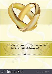 Wedding Invite Format Templates A Wedding Invitation Card With Gold Rings