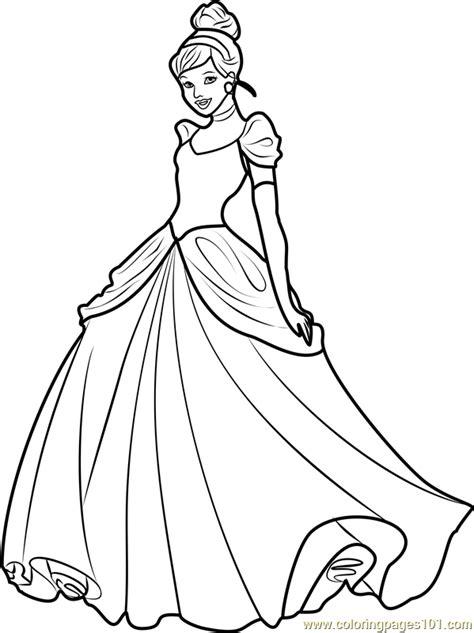 princess cinderella coloring page  disney princesses coloring pages coloringpagescom