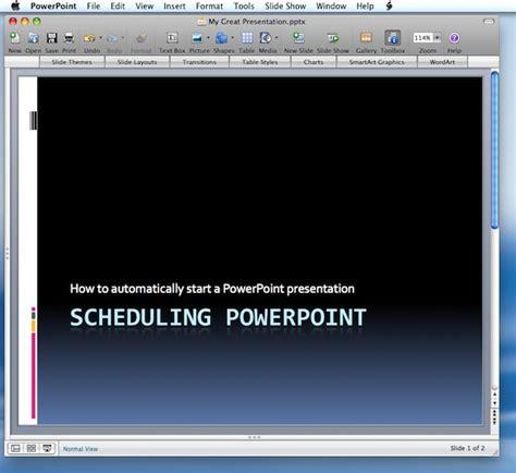 automatically start  powerpoint
