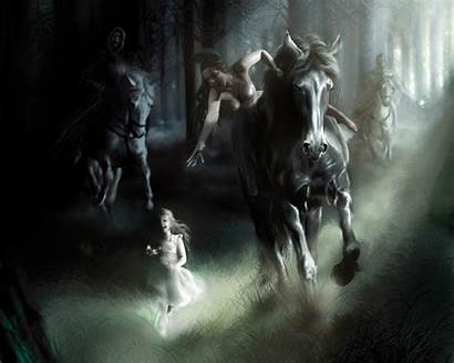 Wallpapers Angels Dark Angel Background Horse Backgrounds