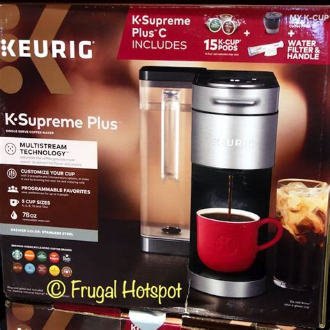 For hot coffee and the temperature of the iced coffee button. Costco Sale: Keurig K-Supreme Plus C Coffee Maker $99.99 | Frugal Hotspot