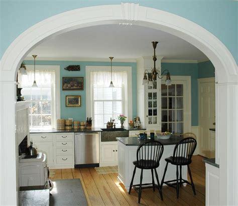 arch kitchen design beautiful archway into the kitchen wood floor 1329
