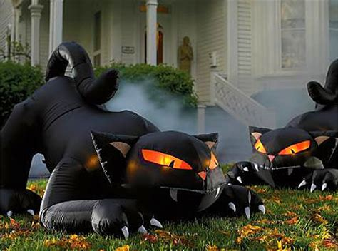 scary outdoor halloween blow ups wooden halloween yard