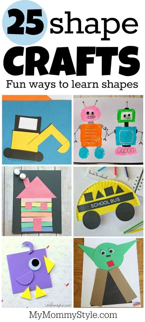 25 shape crafts activities preschool projects 630 | a525f772687adca168ab1b718f040e3c