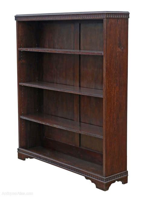 Bookcase Shelves by Adjustable Oak Bookcase Display Shelves C1920 Antiques Atlas