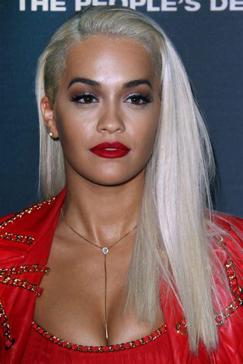 rita ora straight platinum blonde faux sidecut flat