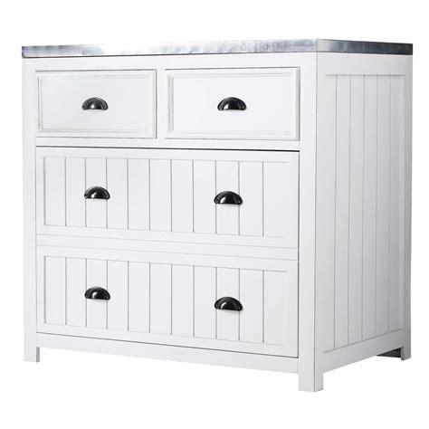 meuble cuisine 90 cm meuble bas de cuisine en pin blanc l 90 cm newport