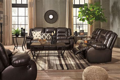 Reclining Living Room Set by Vacherie Chocolate Reclining Living Room Set From