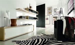 Wohnideen schwarz und weiss im wohnzimmer planungswelten for Wohnideen wohnzimmer schwarz weiß