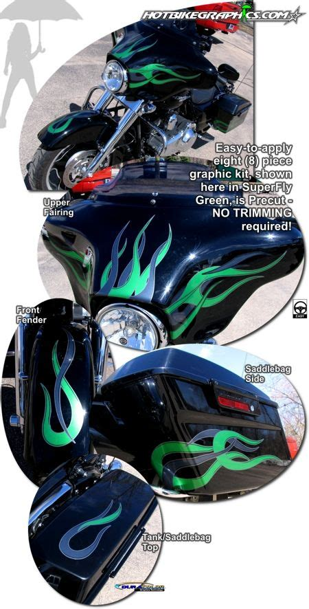 Davidson Vinyl Graphics by Harley Davidson Glide Motorcycle Specific Graphic