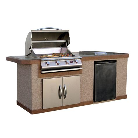 kitchen island grill cal 7 ft stucco grill island with tile top and 4 1918