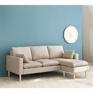 Canapé D Angle Modulable : canap d 39 angle modulable 3 4 places beige joey maisons ~ Melissatoandfro.com Idées de Décoration
