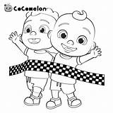 Cocomelon Coloring Jj Xcolorings Rhymes Nursery Tagged sketch template