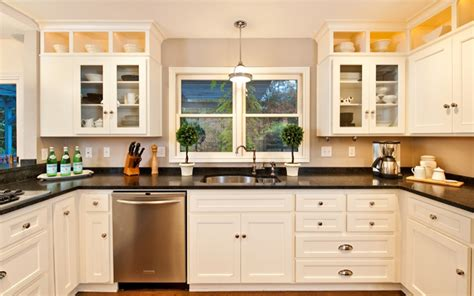 remodeling kitchen island 24 stylish black and white u shaped kitchen home design