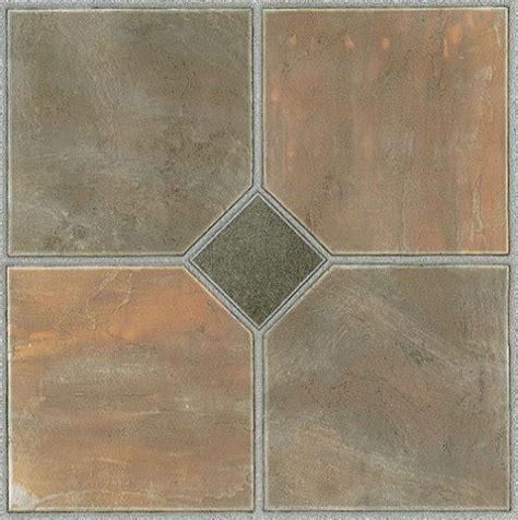 mosaic slate brick self stick adhesive vinyl floor