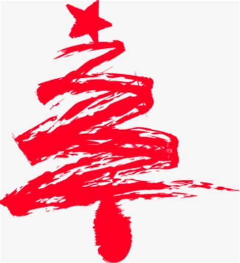 rojo pintado de arbol de navidad rojo pintado a mano