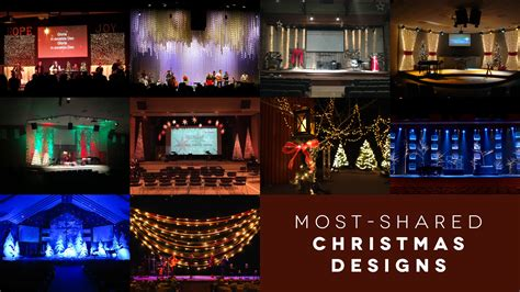 most shared christmas stage designs long room