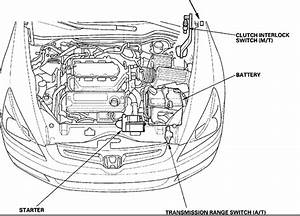 Where Is The Starter For 2009 Honda Accord  Single Click