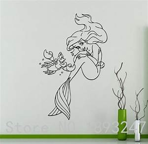 free shipping princess ariel vinyl decal little mermaid With where to buy little mermaid wall decals