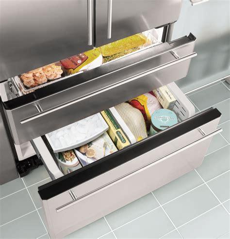 zfgbhzss ge monogram  cu ft french door  drawer  standing refrigerator